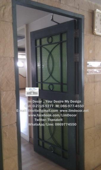 หน้าต่างเหล็กดัด เหล็กดัดอิตาลีอินเทรนด์ (In-trend Metal /Wrought Iron Steel  Curved Window) 5