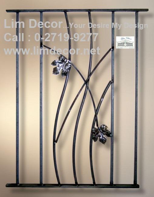 หน้าต่างเหล็กดัด เหล็กดัดอิตาลีอินเทรนด์ (In-trend Metal /Wrought Iron Steel  Curved Window) 6