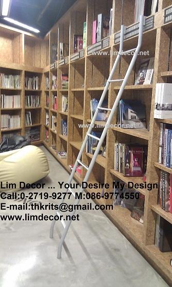 LD-F419 บันไดชั้นหนังสือสเเตนเลสสั่งทำรุ่นClassic Stainless Steel Ladder @Tawanna Hotel Silom Bkk 5