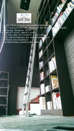 LD-F419 บันไดชั้นหนังสือสเเตนเลสสั่งทำรุ่นClassic Stainless Steel Ladder @Tawanna Hotel Silom Bkk 6