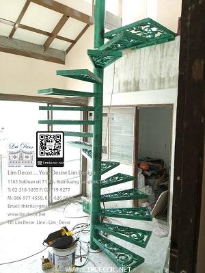 LD–B1265 บันไดวนอัลลอย กรุงเทพฯ Alloy Spiral Staircase BANGKOK 1