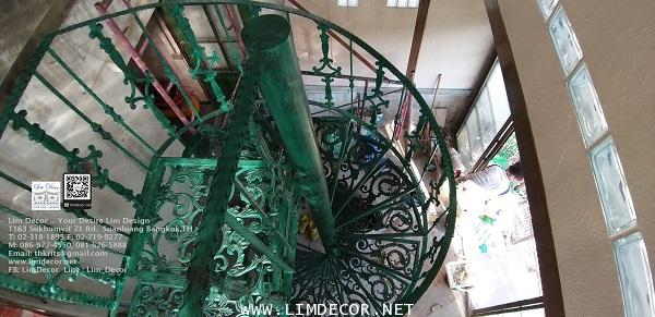 LD–B1265 บันไดวนอัลลอย กรุงเทพฯ Alloy Spiral Staircase BANGKOK 4