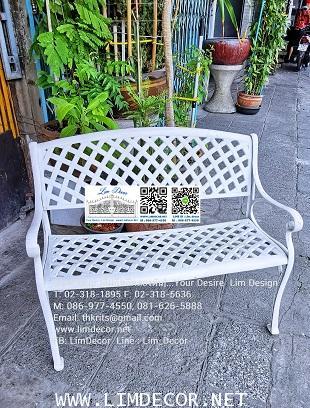 LD-E06 โซฟาร์อัลลอย-ไม้ ม้านั่งอัลลอยไม้ (Alloy Steel Bench with Wood) 2