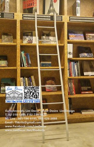 LD-F423 ตู้วางหนังสือไม้อัดบิลด์อินสั่งทำ Plywood Bookshelf Build-In