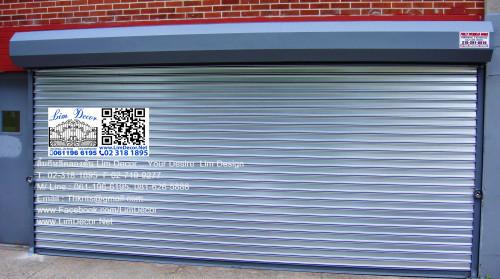 ประตูม้วนสแตนเลส Stainless Steel Shutter Gate 4