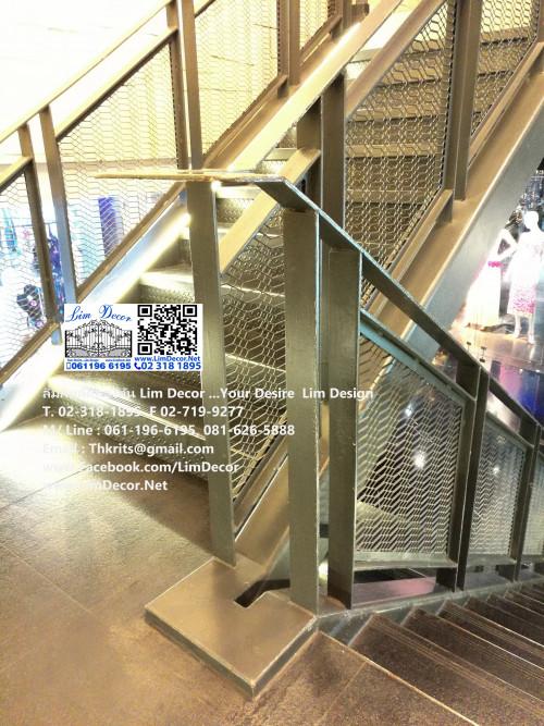 LD-B712 บันไดวนเหล็กหมู่บ้านโมดิวิลล่า บางนา Metal Spiral Staircase/Railing @ Modi Villa Bangna 1