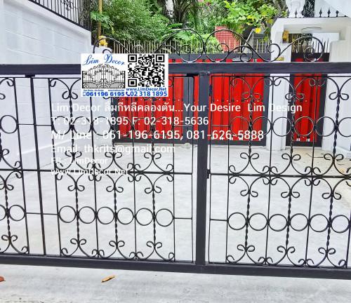 ประตูสแตนเลสบานเลื่อน  Sliding Stainless Steel Gate LD-A183 4