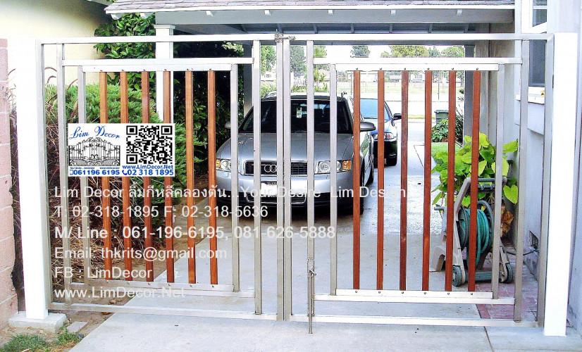 ประตูบานเลื่อนสแตนเลส ST 028 Sliding Stainless Steel Gate 3
