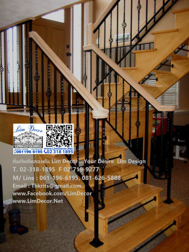 DIY ราวบันไดสแตนเลส Stainless Steel Railing  No.LD-B258 Best Seller Design!!!
