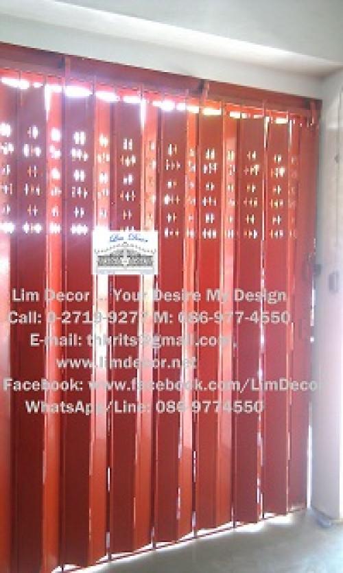 DIY ประตูม้วนเหล็กลอนเดี่ยวเคลือบสีเทาบานทึบ Single Curve Metal Steel Shutter Gate 3