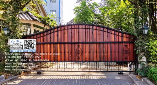 LD-A995 ประตูรั้วเหล็กดัดอิตาลี Wrought Iron Steel Gate
