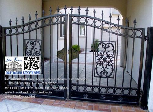 LD-A082 ประตูรั้วเหล็กดัดอิตาลีบานสวิง Swing Wrought Iron Steel Gate