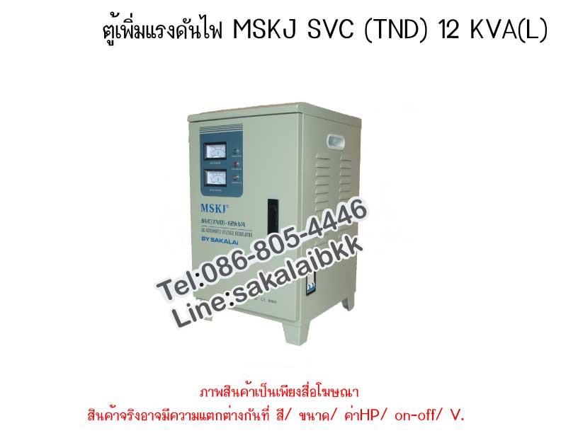 ตู้เพิ่มแรงดันไฟ MSKJ  SVC (TND) 12 KVA (L)