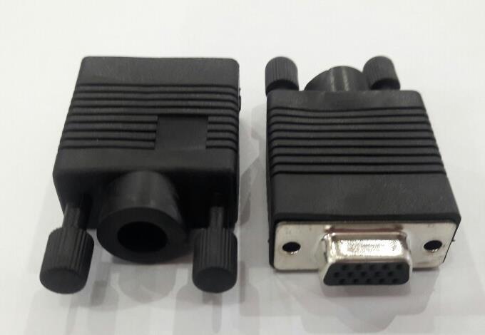 ฝาครอบ VGA แบบพลาสติก พร้อมหัว VGA