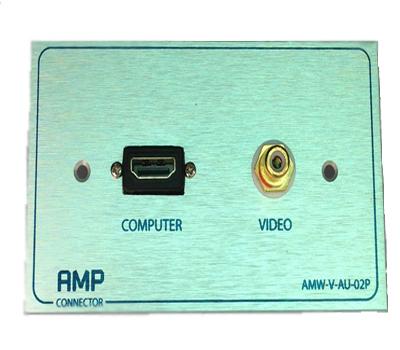 Outlet Plate  AMP HDMI 1 port VDO 1 Port