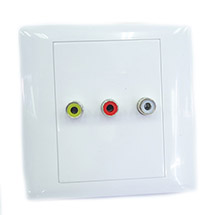OutLet BOX  RCA 3 port