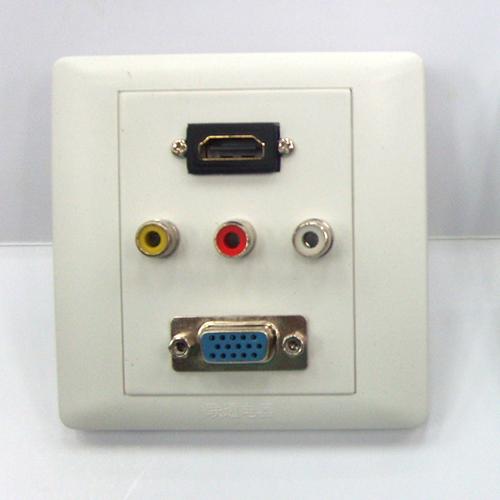 OutLet BOX  HDMI 1 Port VGA 1 Port  RCA 3 port
