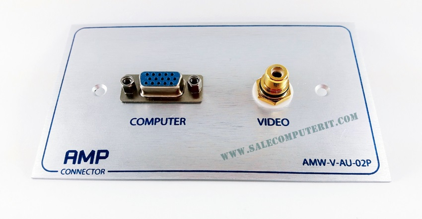 Outlet Plate  AMP  VGA 1 port VDO 1 Port