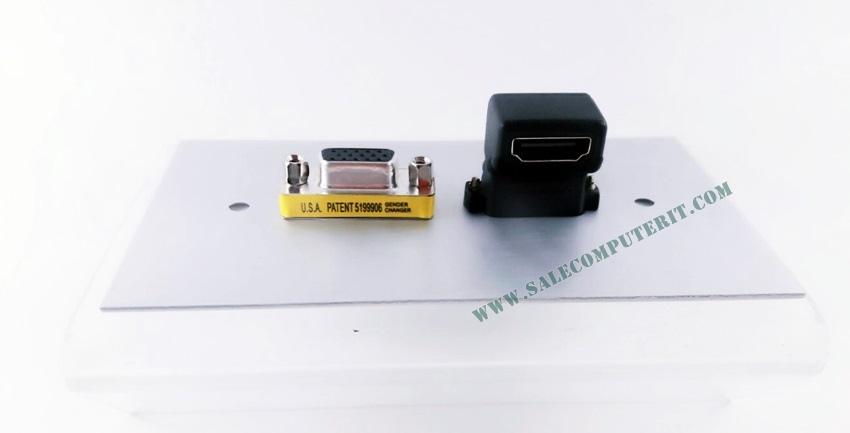 Outlet Plate   AMP  VGA 1 Port HDMI 1 Port 1