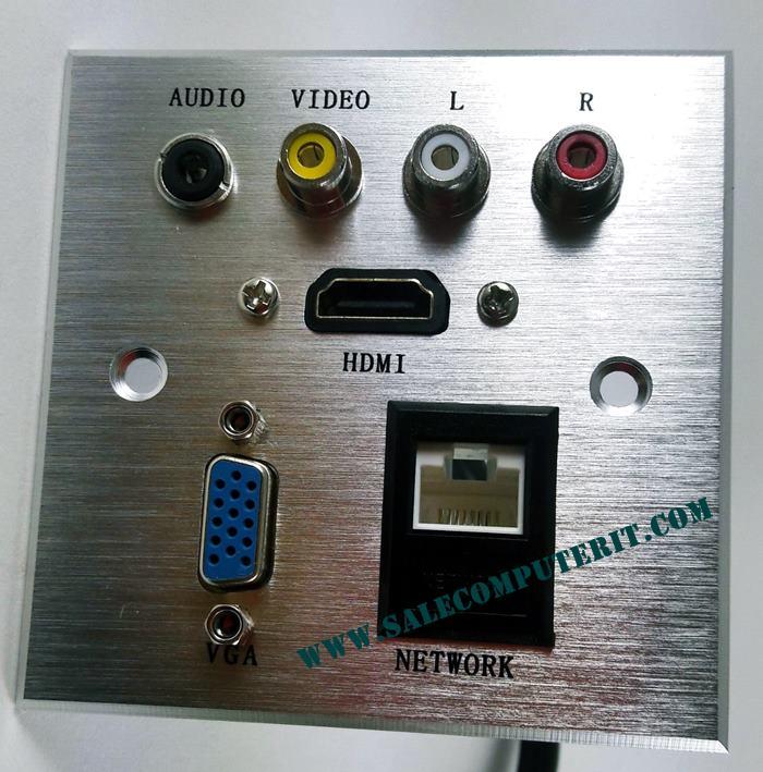Outlet Plate  VGA 1 Port HDMI 1 Port  Audio  1 Port  AV 3 Port LAN 1 Port