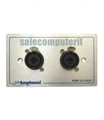 Amphenol Outlet Plate  AMW-COMBO-02P