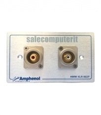 Amphenol Outlet Plate AMW-RCA-02P