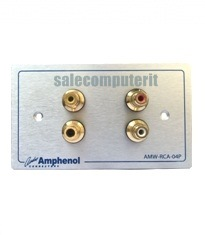 Amphenol Outlet Plate AMW-RCA-04P
