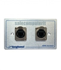 Amphenol Outlet Plate AMW-RJ45-02P