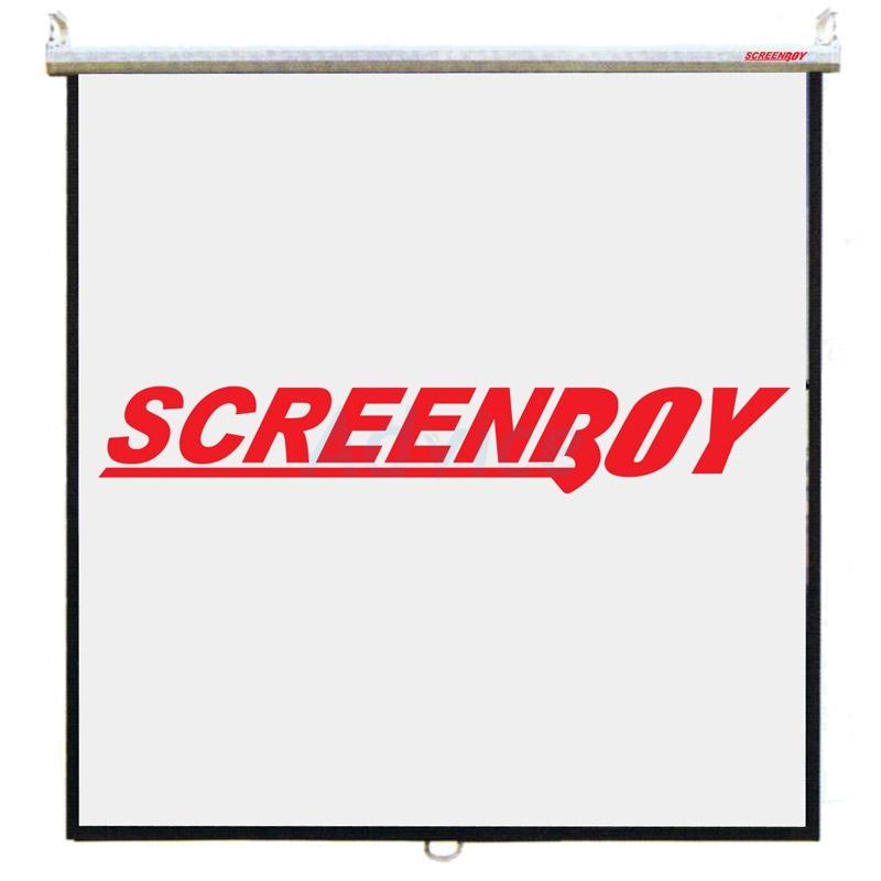 จอแขวนมือดึง SCREENBOY (Wall Screen) ขนาด 150 นิ้ว (3:4)