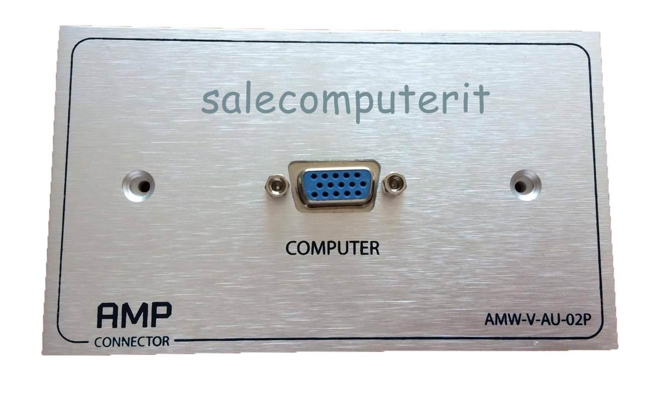 Outlet Plate  AMP  VGA 1 Port