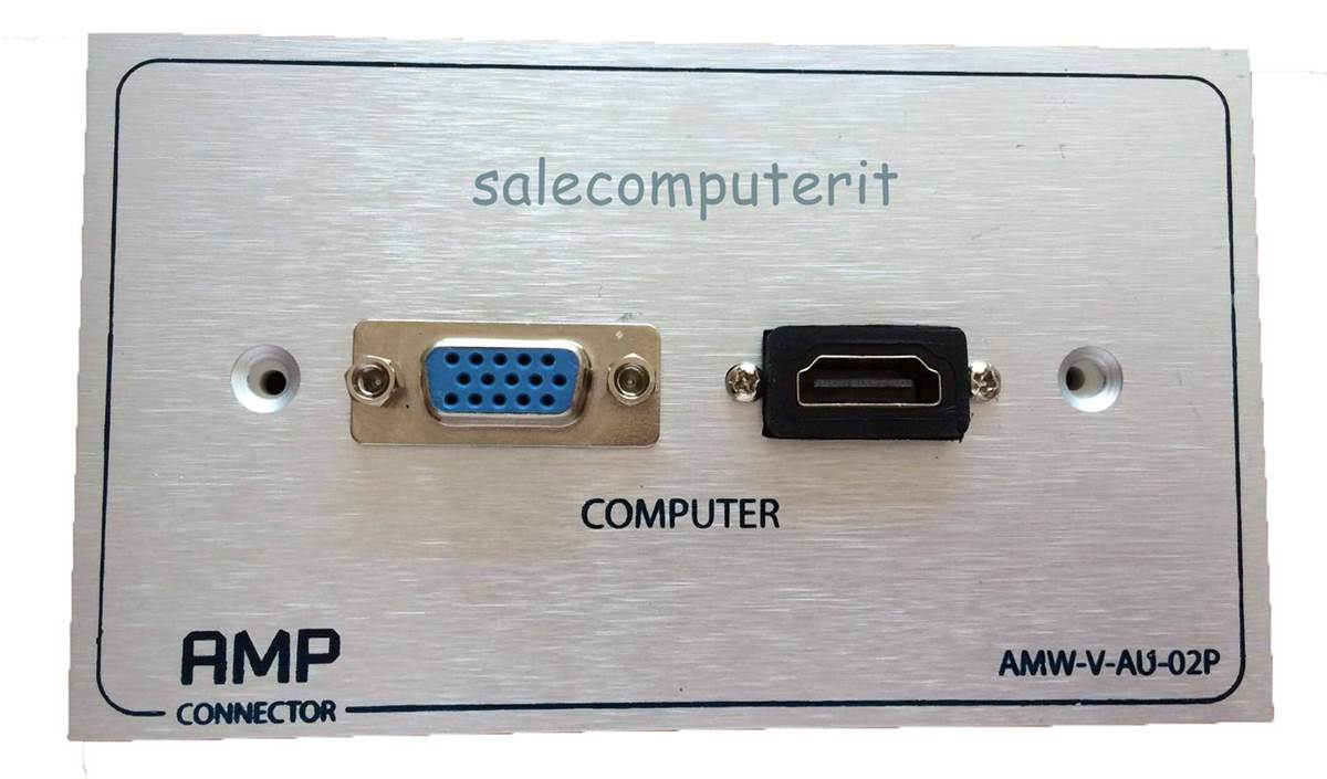Outlet Plate   AMP  VGA 1 Port HDMI 1 Port  แบบบัดกรี