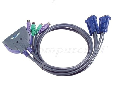 ATEN 2-ports PS/2 KVM Cable 0.9 m model : CS62S