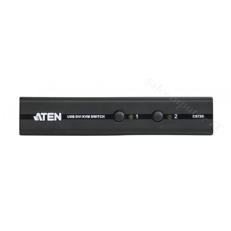 2-Port USB DVI KVM Switch model : CS72D