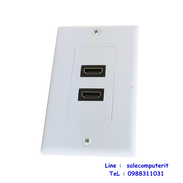 Outlet Plate   HDMI 2 Port