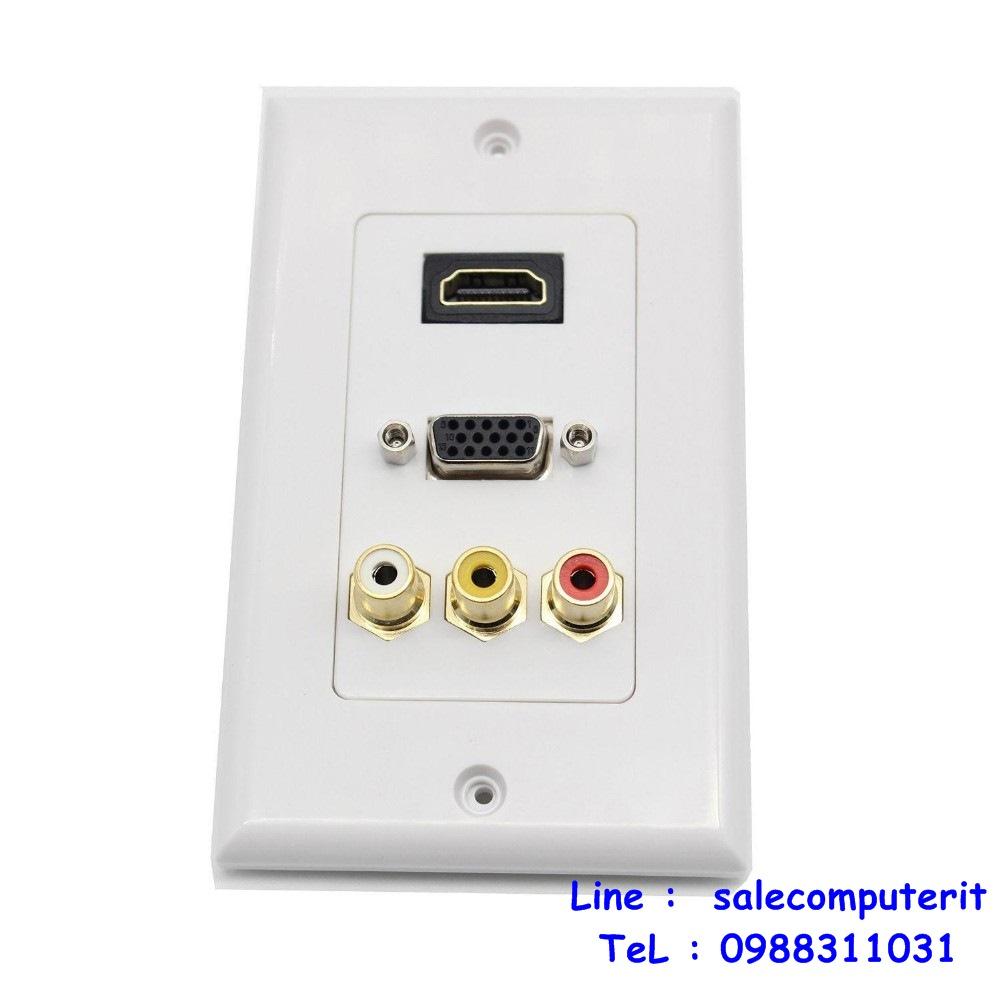 OutLet  HDMI 1 Port  VGA 1 Port  AV 3 Port