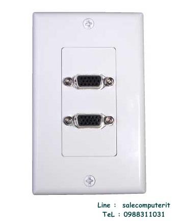 Outlet Plate VGA  2 Port