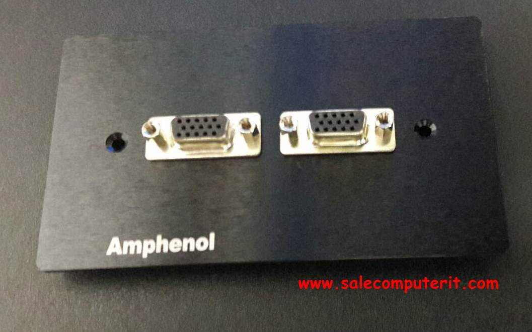 Amphenol Outlet Plate VGA 2 Port