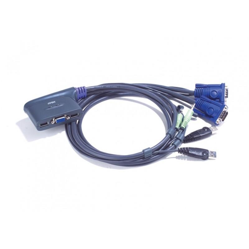 ATEN 2-PORTS USB KVM CABLE 1.8 M รุ่น  CS62U