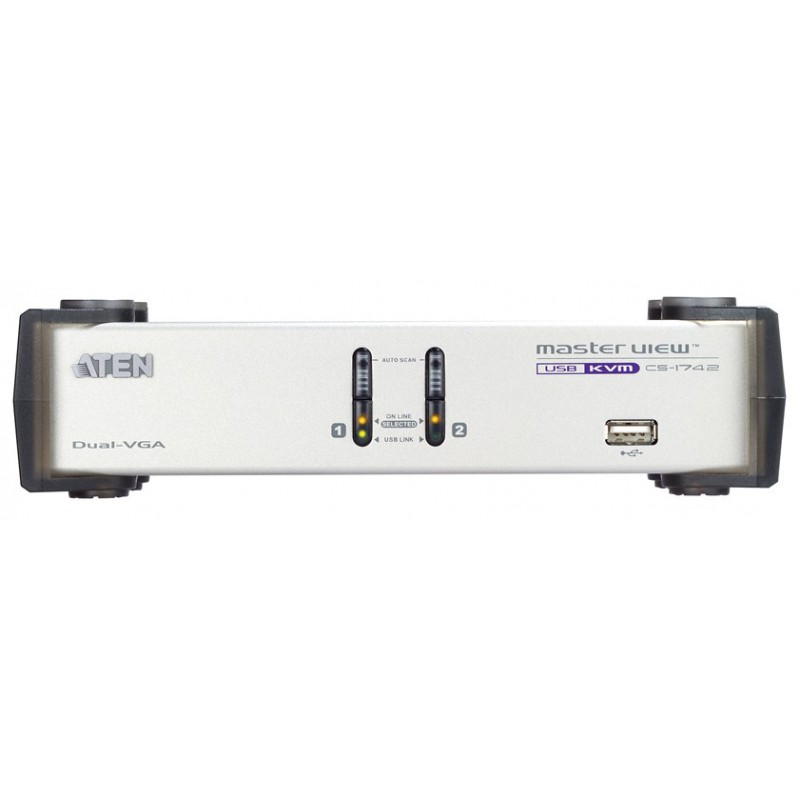 2-PORT USB KVM DUAL-VIEW รุ่น  CS1742