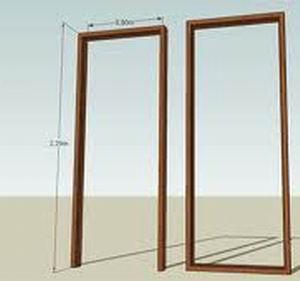 วงกบประตู 2x4 นิ้ว