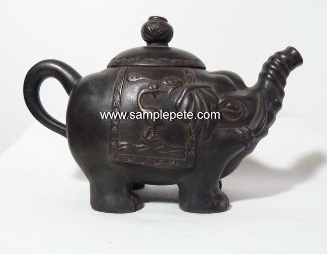 ปั้นชาจีนรูปทรงช้าง