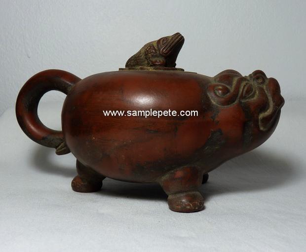 ปั้นชาจีนรูปทรงสัตว์มงคล