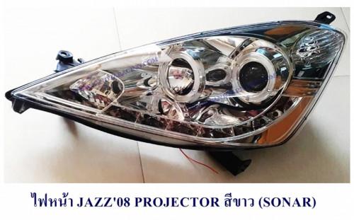 ไฟหน้า HONDA JAZZ2008 ชุบ / ดำ SONAR
