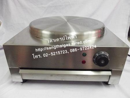 เตาเครปไฟฟ้า สแตเลสหนา ขนาด 15 นิ้ว ยี่ห้อนาโนเทค NT-YTB15