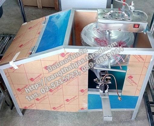 ตู้ป๊อบคอร์น (ตู้ข้าวโพดคั่ว) ใช้แก๊ส รุ่นใหม่ โครงอลูมิเนียมหนา