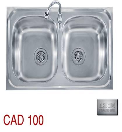 ซิ้งล้างจานแบบฝัง Tecno 2 หลุม รุ่น CAD-100