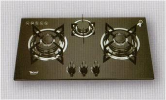เตาฝังกระจก เทคโน หัวเตาอัลลอยด์ 3 หัวเตา (รุ่น TNS HB 3073 GB)