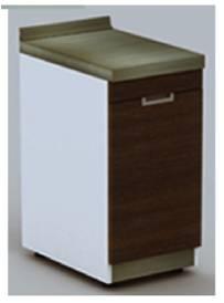 ตู้หน้าเรียบท๊อปสแตนเลส 40 ซม. ตราเพชร (รหัส LXB-1040-1P)