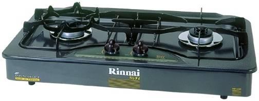 เตาแก๊สแบบฝัง 2 หัวเตา เคลือบอีนาเมลสีเทา RINNAI รุ่น RBF-2EBS(E)G [Safety Sensor]