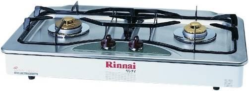 เตาฝัง 2 หัวเตา หน้าเตาแก๊ส สแตนเลสแท้ ระบบ (Safety Sensor) RINNAI รุ่น RBF-2EBS(E)W